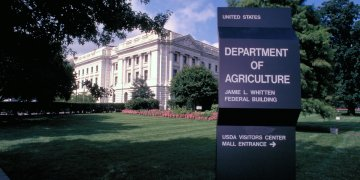 The Jamie L. Whitten, Federal Building, U.S. Department of Agriculture in Washington, D.C. USDA photo by Ken Hammond.